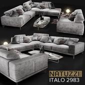 Диван NATUZZI Italo 2983 grey