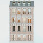 Фасад дома с мансардой