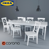 IKEA set in the living room