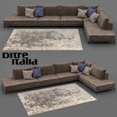 Ditre Italia ковры и угловой диван Foster