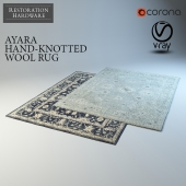 RH Ayara rug collection