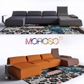 Highlands Sofa & Mark Table Coffee Table by Moroso