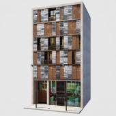 Facade. Office and Apartment building