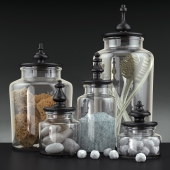 Bathroom decoration jars set