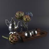 Artischoke decorative set