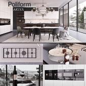 Кухня Poliform Varenna Artex 3 (vray GGX, corona PBR)
