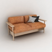 JP_Wood_leather_sofa