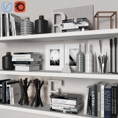 decorative set with books 02