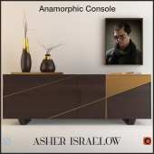 Anamorphic console by Asher Israelow + Decor