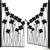 Flowers Door Gate