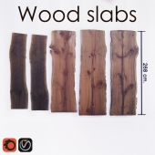 Wood slabs tables