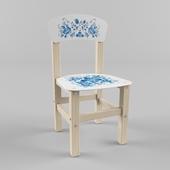 Chair for children Gzhel