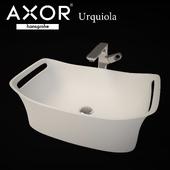 AXOR Urquiola Washbowl 625 x 408 mm + Single lever basin faucet 280