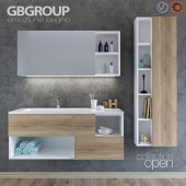 Set of bathroom furniture OPEN 01 + Bathroom Accessories
