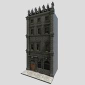 Facade.Black stone house