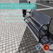 Paving granite damage regular HR / street furniture 04