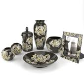Black ceramic living room set Konstar
