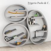 Книжный шкаф с декоративным набором