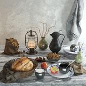 Kitchen set Naturmort