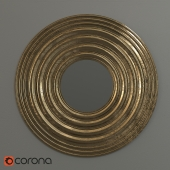 Зеркало круглое ODEON золотое Maisons