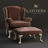 Armchair Ascension Latorre Georges with pouf.