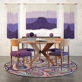 Roost Teak Table & BbL Tapestry set