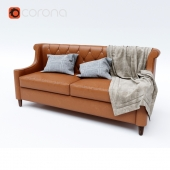 Double sofa leather