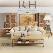 AVE Restoration Hardware Living Room set
