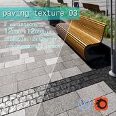 Paving granite plates HR / street furniture 03