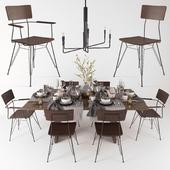 сервировка стола Monarch Shiitake Dining Tables