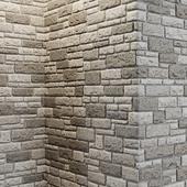 Mixed brick wall