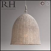 RH Seagrass Market Pendant