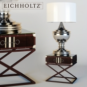 EICHHOLTZ side table with lamp