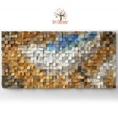 "Wood wall art ""Fighting River"""
