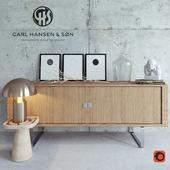 Carl Hansen Credenza decor set