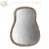 Cox London Cello Oak Leaf Mirror
