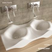 Sink Bandini Ocean. Mixer Bandini Eden Penta