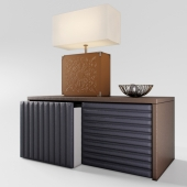 Alex Lamp, Boston Sideboard by Coleccion Alexandra with decor
