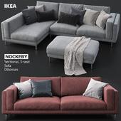 Диваны и пуфик IKEA NOCKEBY