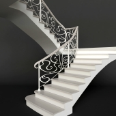 Classical wrought iron stair