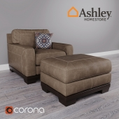 Kylun Saddle Chair and Ottoman by Ashley