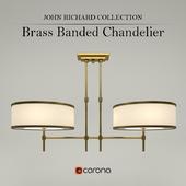JOHN RICHARD COLLECTION - Brass Bande Chandelier (AJC-8906)
