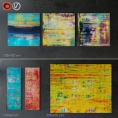 Abstract painting set
