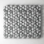 Stone panel hexagon