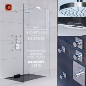 Barrier-free shower panel KALDEWEI XETIS