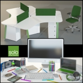 Office furniture Solo with the decor and appliances