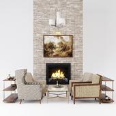 Furniture set vs fireplace