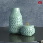 H&M Home Tall stoneware vase
