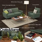 Crate and Barrel Torino Apartment Sofa