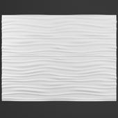 Декоративная стеновая панель волны